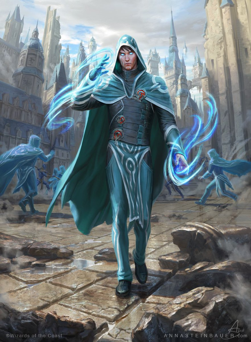 MTG Jace Wielder of Mysteries Japanese Illustrator Version NM Free Shipping