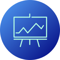 Icon of a chart with an upward trend
