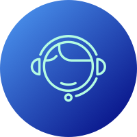 Icon of a customer service agent
