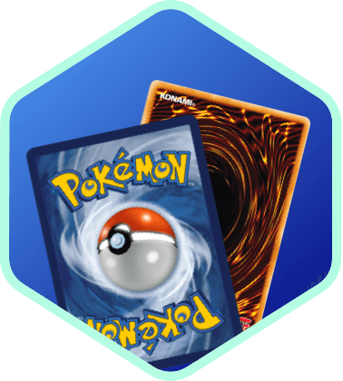 Icon of Pokémon and Yu-Gi-Oh! cards